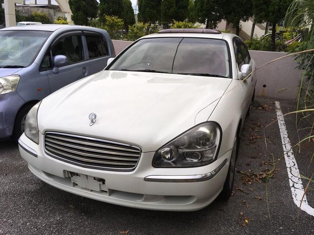 沖縄の中古車 日産 シーマ 車両価格 35万円 リ済込 2004(平成16)年 12.4万km ホワイトパール