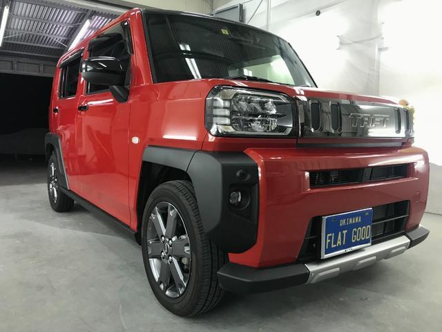 沖縄の中古車 ダイハツ タフト 車両価格 162万円 リ済込 2020(令和2)年 0.3万km レッドM