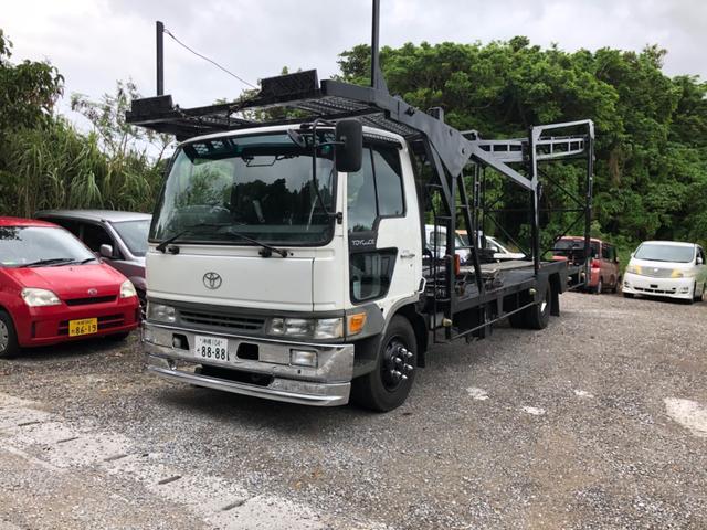 沖縄県の中古車ならトヨエース 4台積みキャリアカー 積載車 ベースグレード NEWペイント