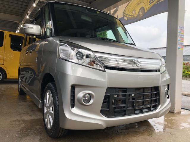沖縄県の中古車ならスペーシアカスタム 2年保証 XSブレーキサポート搭載車 ワンオーナー SDナビ