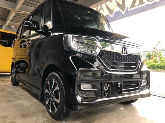 沖縄県うるま市の中古車ならN-BOXカスタム 3年保証 G・EXホンダセンシング ワンオーナー 新品ナビ