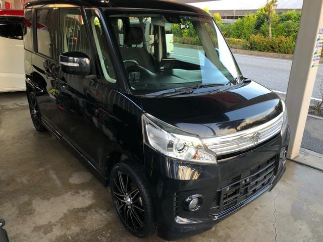 沖縄県の中古車ならスペーシアカスタム TS ブレーキサポート搭載車 新品16インチ サイバーナビ ワンオーナー 本土車