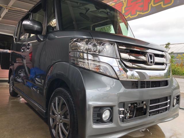 沖縄県うるま市の中古車ならN-BOXカスタム G・Lパッケージ 2年保証可能 通信型ナビ フルセグTV  Bluetooth バックモニター ドライブレコーダー ワンオーナー修復歴無し 本土車