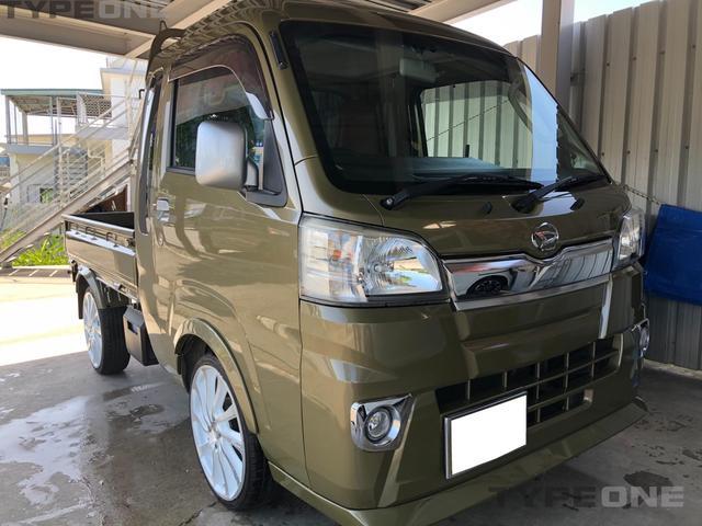 沖縄の中古車 ダイハツ ハイゼットトラック 車両価格 90万円 リ済込 2015(平成27)年 9.4万km グリーンM