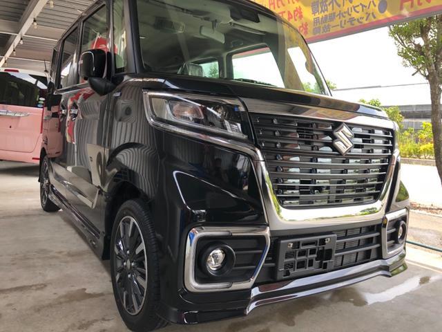 沖縄の中古車 スズキ スペーシアカスタム 車両価格 189万円 リ済込 2020(令和2)年 0km ブラックM