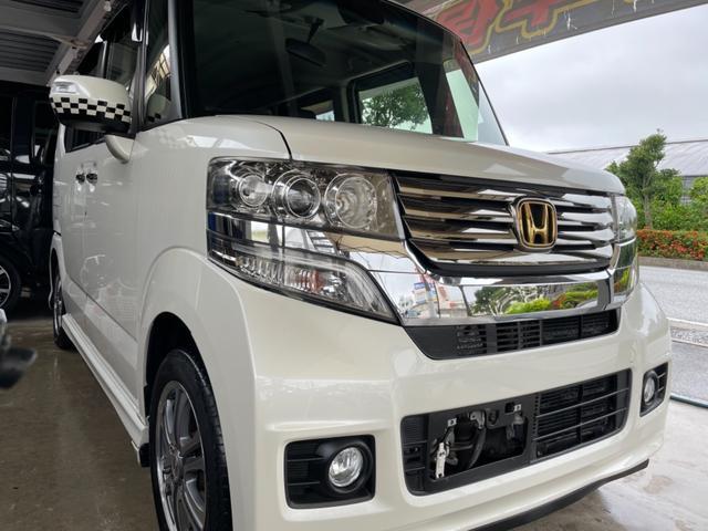 沖縄の中古車 ホンダ N-BOXカスタム 車両価格 75万円 リ済込 2014(平成26)年 4.6万km パールホワイト