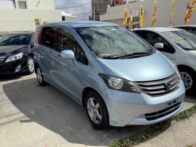 沖縄の中古車 ホンダ フリード 車両価格 39万円 リ済込 2008(平成20)年 6.7万km ライトブルーM