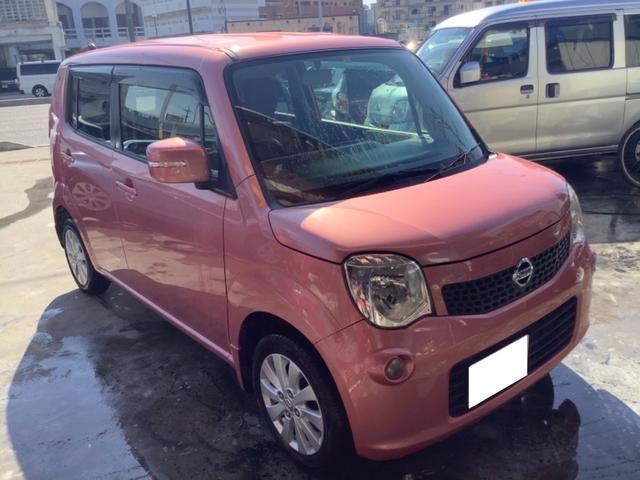 沖縄の中古車 日産 モコ 車両価格 39万円 リ済込 2014(平成26)年 5.2万km ピンク