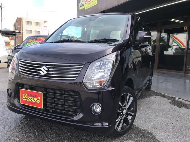 沖縄の中古車 スズキ ワゴンR 車両価格 59万円 リ済込 2013(平成25)後 8.8万km ダークパープル