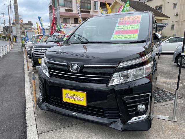 沖縄の中古車 トヨタ ヴォクシー 車両価格 189万円 リ済込 2015(平成27)年 8.2万km ブラック
