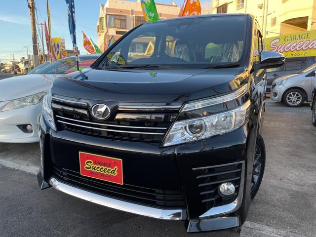 沖縄の中古車 トヨタ ヴォクシー 車両価格 189万円 リ済込 2016(平成28)年 7.4万km ブラック