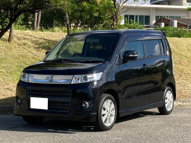 沖縄の中古車 スズキ ワゴンRスティングレー 車両価格 47万円 リ済込 2010(平成22)年 5.9万km ブルーイッシュブラックパール3