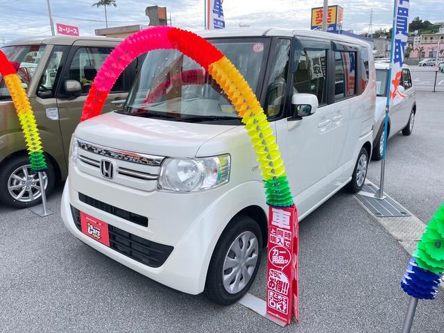 沖縄県沖縄市の中古車ならN-BOX C プッシュスタート スマートキー CD アイドリングストップ Wエアバック フルフラット ベンチシート ABS