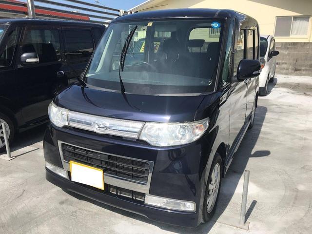 沖縄の中古車 ダイハツ タント 車両価格 72万円 リ済込 平成21年 3.3万km ダークブルー