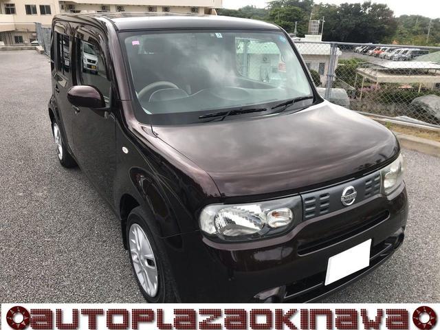 沖縄の中古車 日産 キューブ 車両価格 52万円 リ済別 2011(平成23)年 9.4万km ブラウンM