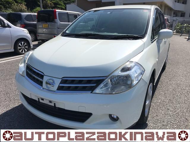 沖縄の中古車 日産 ティーダ 車両価格 45万円 リ済別 2012(平成24)年 4.4万km パールホワイト