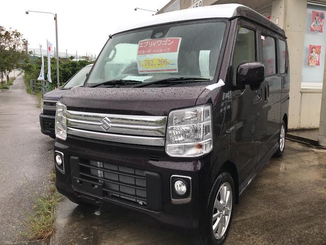 沖縄の中古車 スズキ エブリイワゴン 車両価格 176.3万円 リ済別 新車  パープルM