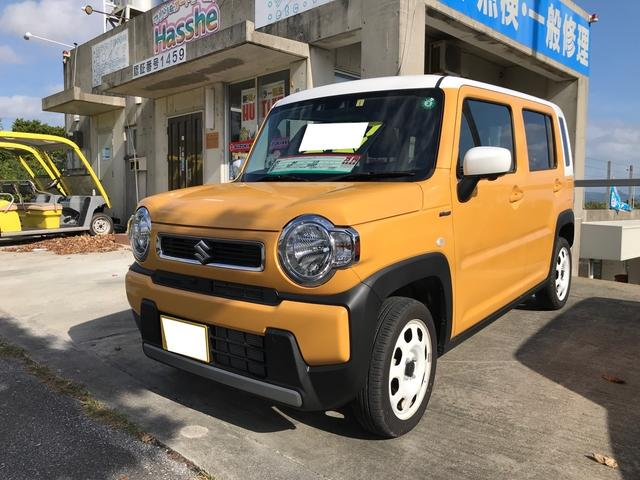 沖縄の中古車 スズキ ハスラー 車両価格 130万円 リ済別 2020(令和2)年 0.5万km イエローII