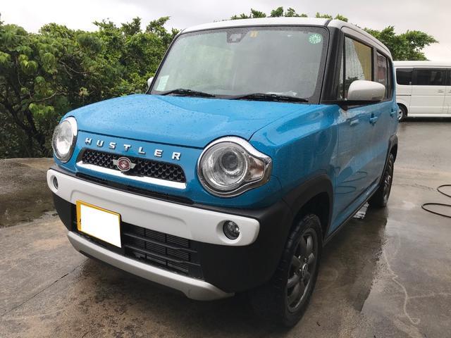 沖縄の中古車 スズキ ハスラー 車両価格 86万円 リ済込 2015(平成27)年 8.1万km ブルーII