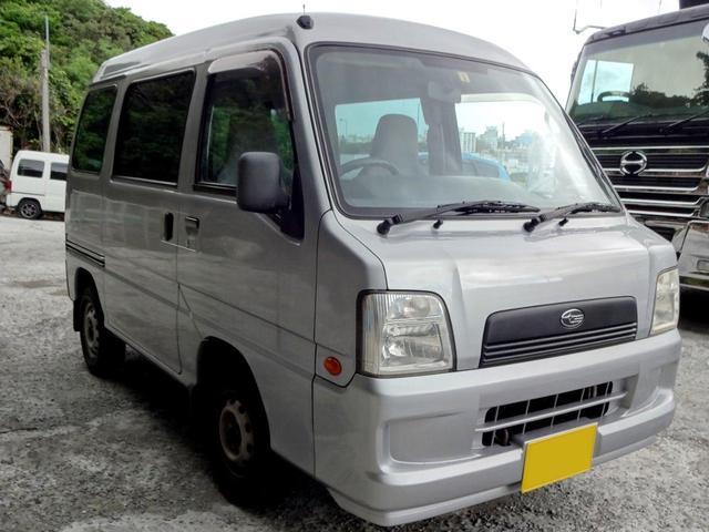 沖縄の中古車 スバル サンバーバン 車両価格 18万円 リ済込 平成17年 12.5万km シルバー