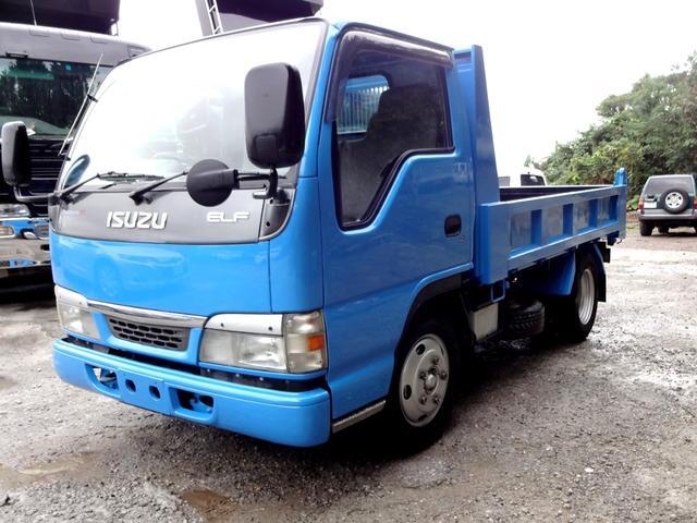 沖縄の中古車 いすゞ エルフトラック 車両価格 127万円 リ済込 平成15年 15.6万km ブルー