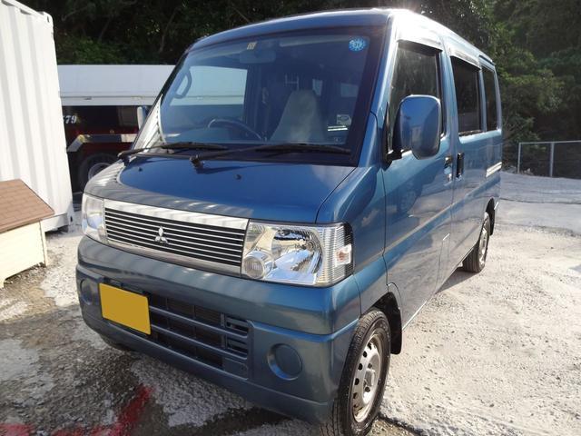 沖縄の中古車 三菱 ミニキャブバン 車両価格 19万円 リ済込 2007(平成19)年 12.0万km ブルーM