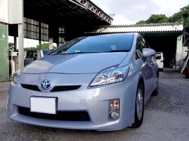 沖縄の中古車 トヨタ プリウス 車両価格 59万円 リ済込 2009(平成21)年 6.8万km ライトブルーM
