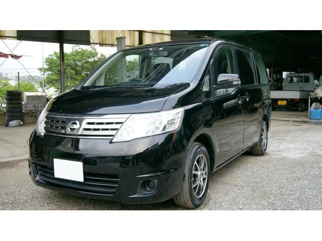 沖縄の中古車 日産 セレナ 車両価格 24万円 リ済込 2009(平成21)年 12.3万km ブラックM