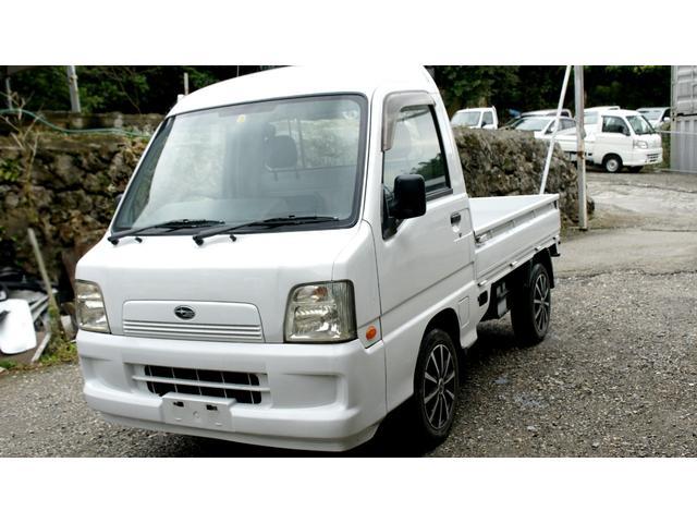 沖縄県の中古車ならサンバートラック  スーパーチャージャー 4WD MT AC PS ハイルーフ