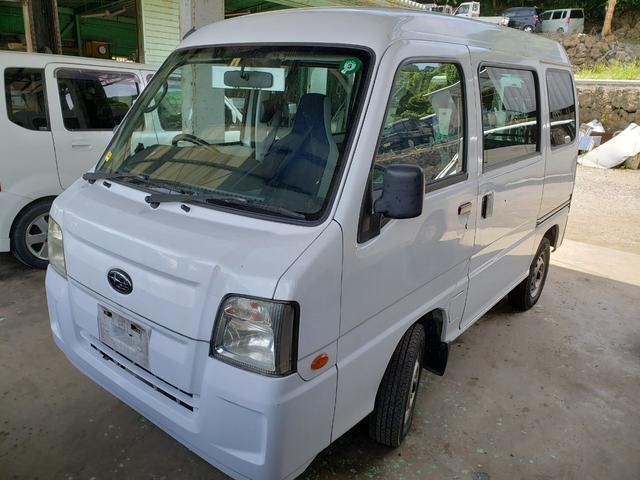 沖縄の中古車 スバル サンバーバン 車両価格 27万円 リ済込 2010(平成22)年 12.6万km ホワイト