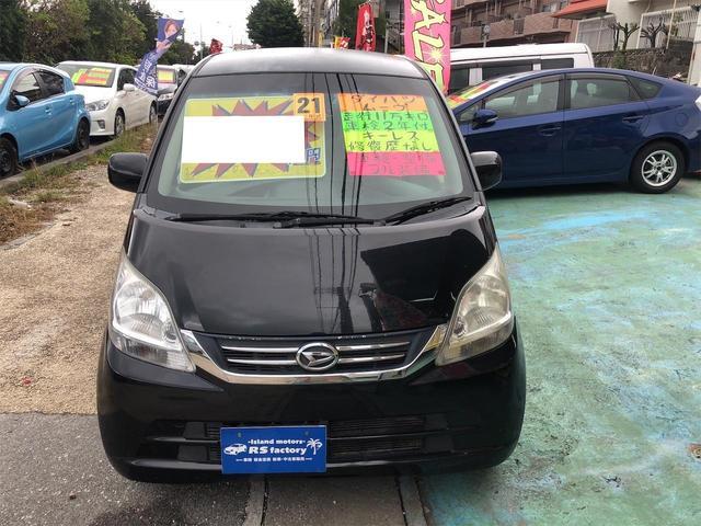 沖縄の中古車 ダイハツ ムーヴ 車両価格 21万円 リ済込 2009(平成21)年 10.0万km ブラック