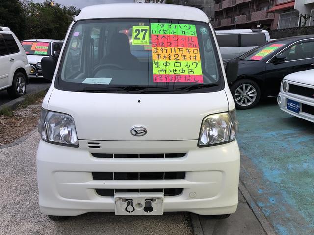 沖縄の中古車 ダイハツ ハイゼットカーゴ 車両価格 39万円 リ済込 2015(平成27)年 11.0万km ホワイト