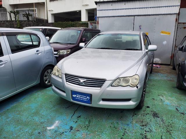 沖縄の中古車 トヨタ マークX 車両価格 9万円 リ済込 2005(平成17)年 15.9万km シルバー