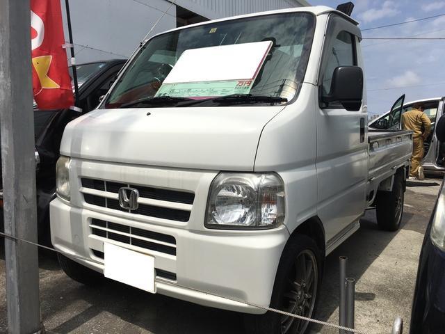 沖縄の中古車 ホンダ アクティトラック 車両価格 42万円 リ済込 2006(平成18)年 11.7万km ホワイト