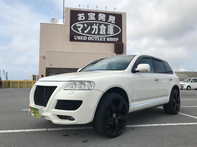 沖縄の中古車 フォルクスワーゲン VW トゥアレグ 車両価格 83万円 リ済込 2003(平成15)年 12.3万km ホワイト
