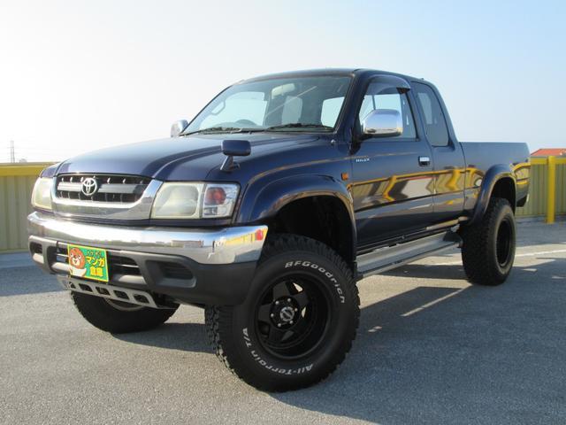 沖縄県の中古車ならハイラックススポーツピック エクストラキャブ ワイド リフトアップ 社外アルミ&BF