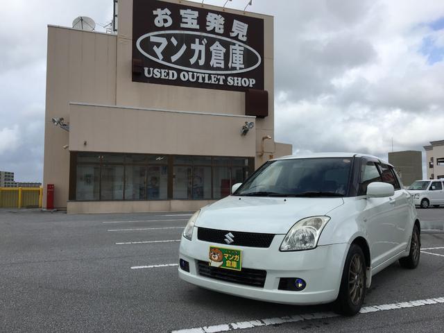 沖縄の中古車 スズキ スイフト 車両価格 16万円 リ済込 2005(平成17)年 11.4万km パールホワイト