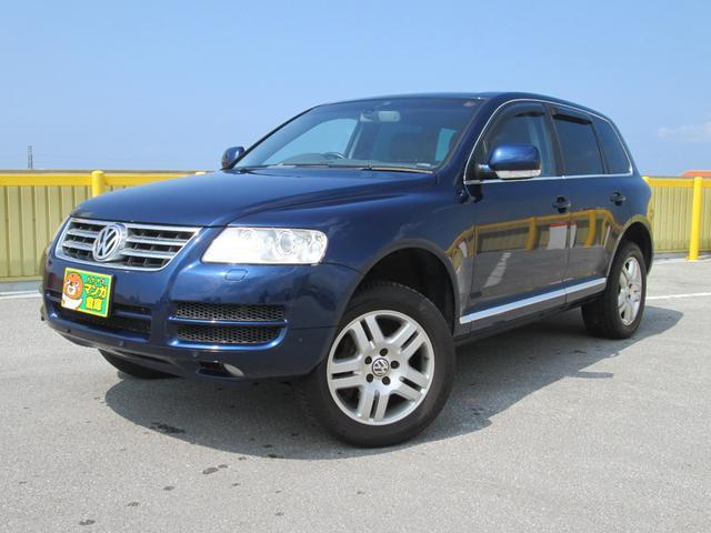 沖縄の中古車 フォルクスワーゲン VW トゥアレグ 車両価格 35万円 リ済込 2004(平成16)年 14.3万km ブルーM