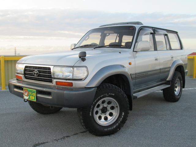 沖縄の中古車 トヨタ ランドクルーザー80 車両価格 146万円 リ済込 1997(平成9)年 21.9万km パールII