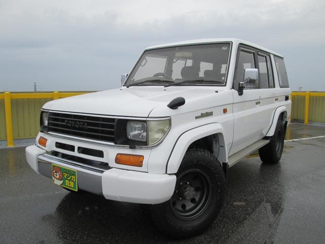 沖縄の中古車 トヨタ ランドクルーザープラド 車両価格 174万円 リ済込 1995(平成7)年 26.9万km ホワイト