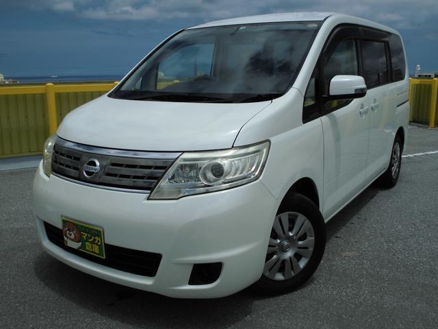 沖縄の中古車 日産 セレナ 車両価格 39万円 リ済込 2008(平成20)年 13.8万km パールホワイト