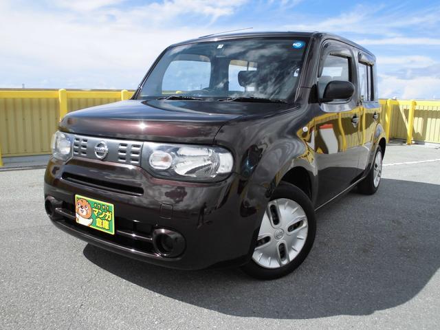 沖縄の中古車 日産 キューブ 車両価格 43万円 リ済込 2011(平成23)年 7.5万km ブラウンM
