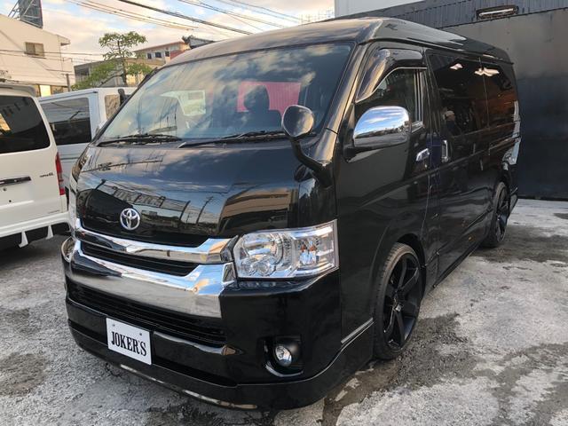 沖縄の中古車 トヨタ ハイエースバン 車両価格 198万円 リ済込 平成20年 23.0万km ブラック