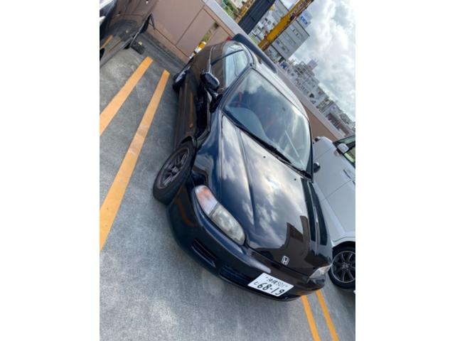 沖縄の中古車 ホンダ シビック 車両価格 115万円 リ済込 1995(平成7)年 12.6万km ブラック