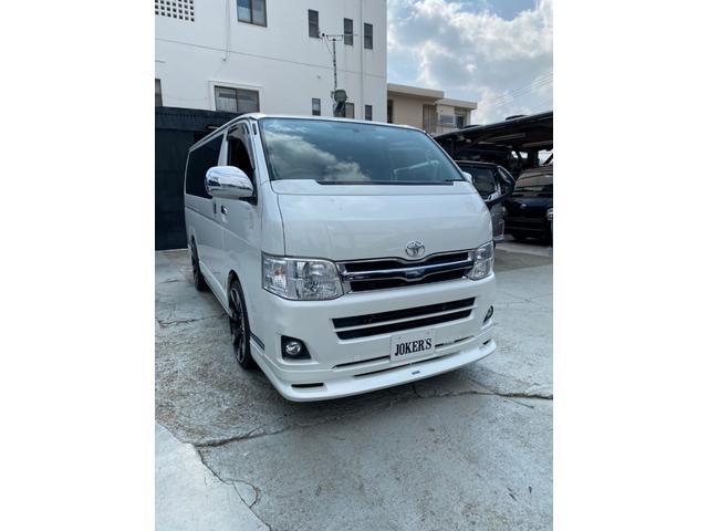沖縄県沖縄市の中古車ならハイエースバン ロングスーパーGL 3型パールホワイト
