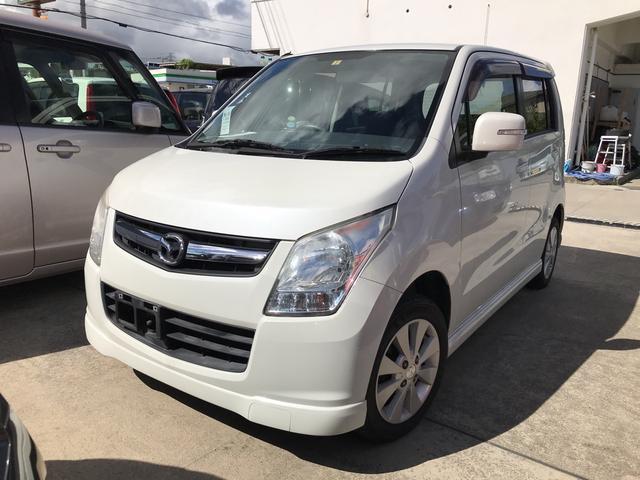 沖縄の中古車 マツダ AZワゴン 車両価格 35万円 リ済別 2010(平成22)年 10.9万km パールホワイト