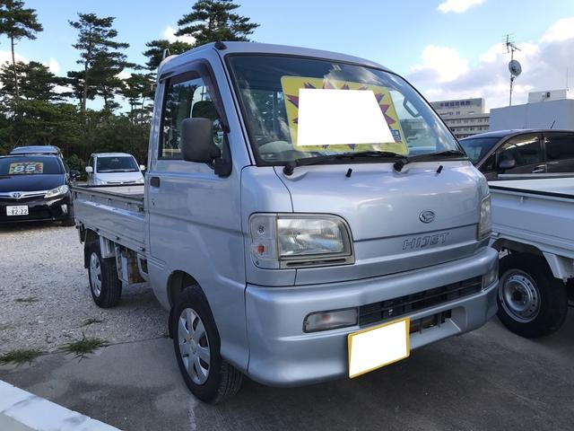 沖縄の中古車 ダイハツ ハイゼットトラック 車両価格 25万円 リ済別 2003(平成15)年 20.1万km シルバーM