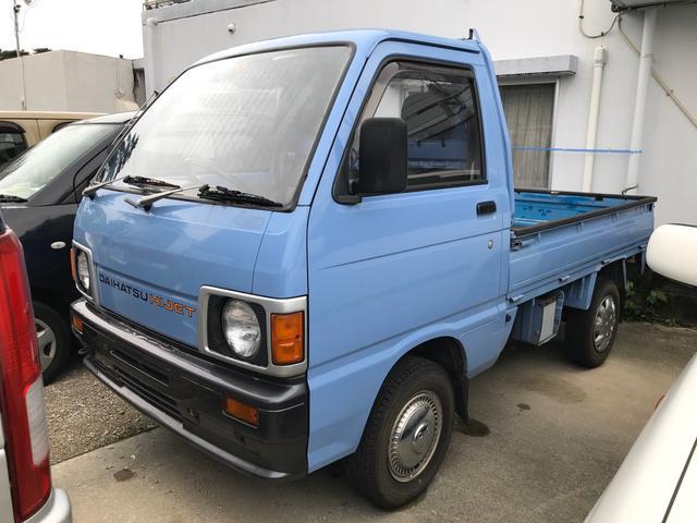 沖縄県沖縄市の中古車ならハイゼットトラック 4MT 4WD 社外ステアリング