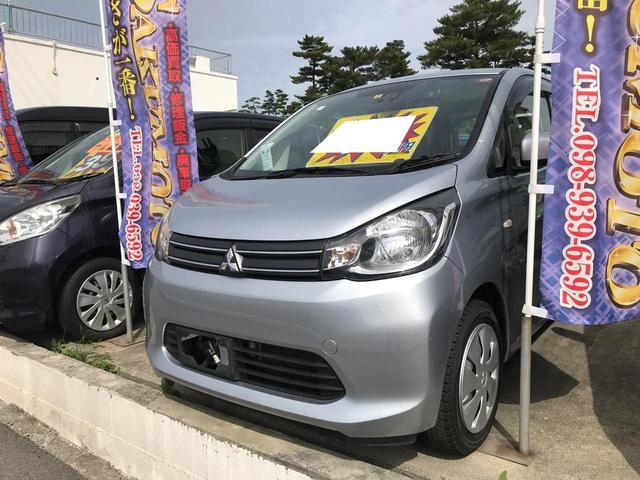 沖縄の中古車 三菱 eKワゴン 車両価格 46万円 リ済別 2015(平成27)年 8.6万km クールシルバーメタリック