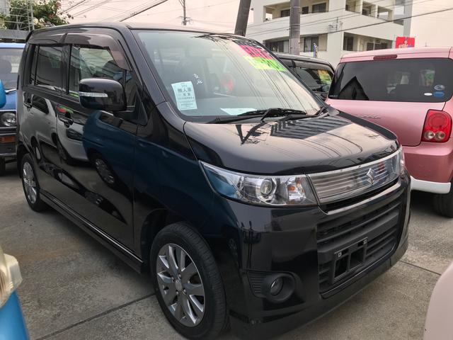 沖縄県の中古車ならワゴンRスティングレー リミテッド プッシュスタート ナビ TV Bluetooth ハーフレザーシート